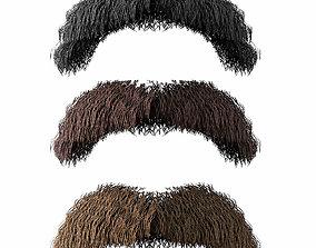 Mustache Low Poly 2 3D model
