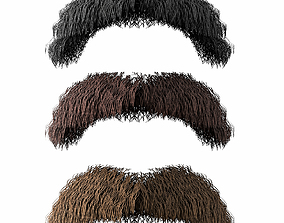 Mustache Low Poly 2 3D asset