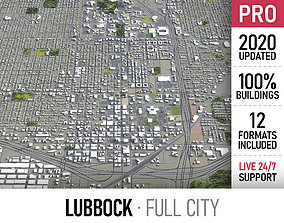 Lubbock - city and surroundings 3D asset
