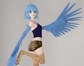 3D model Papi anime girl pose 01