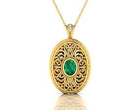 jewelry necklace Women pendant 3dm render detail