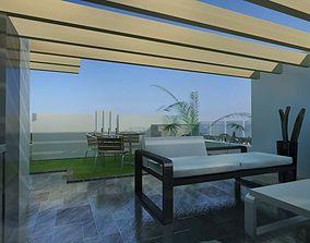 3D model terrace furniture