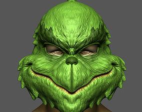 3D printable model The Grinch Mask Christmas Costume 4