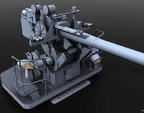 5-inch 25-caliber Mark 10 anti-aircraft gun 3D