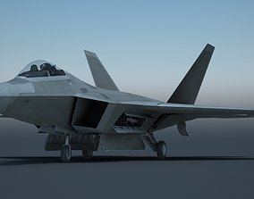 3D model F22 fighter F-22 Raptor three kinds of camouflage