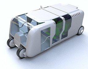 Bus - Concept of future transport system 3D model