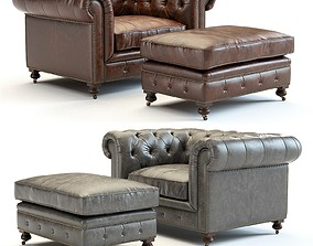 3D model Restoration Hardware - Kensington Leather 1