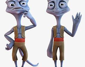 3D model Cartoon Alien Rigged