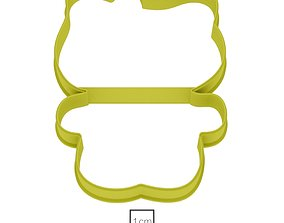 3D print model Kitty cookie cutter for professional