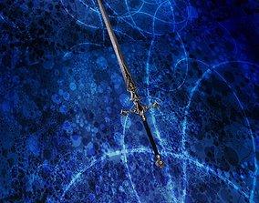 Sword 3D asset rigged