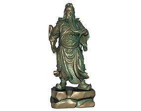 Guan Gong Sculpture 3D print model 3D model