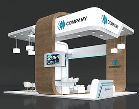 3D model Exhibition Stand Booth Stall 8x6m Height 500cm 2