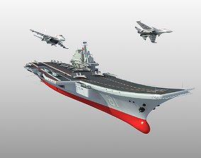 Chinese aircraft carrier Liaoning 3D