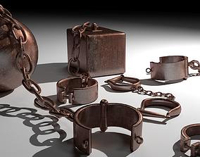 jail 3D model Old shackles