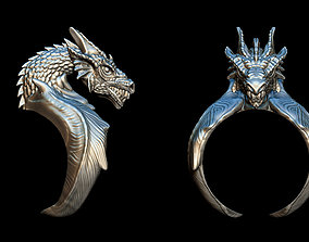 3D printable model Dragon ring symbol