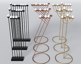 3D model Menorah Candles