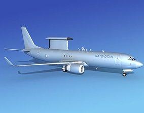 Boeing E-8 Posiedon AEWS NATO 3D model