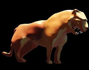 Lion stylized 3D model leon