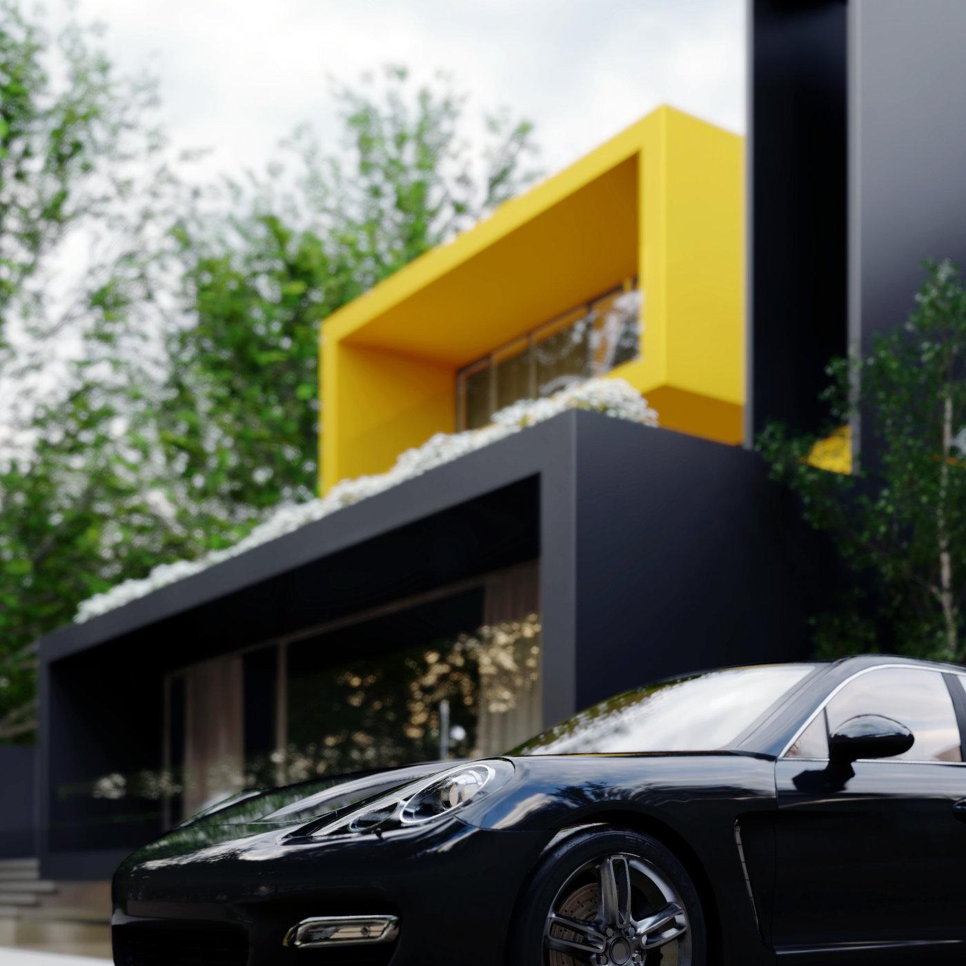 Villa Yellow cube