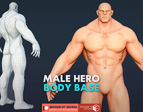 Character - Male Hero Body Base 3D asset