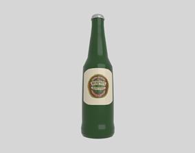 Beer bottle 3D model VR / AR ready