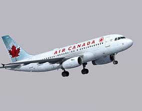 Airbus A319 Air Canada 3D asset