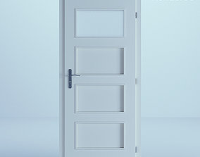 opened White Door 60 3D