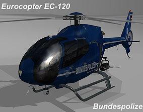 Eurocopter EC-120 Bundespolizei livery 3D asset
