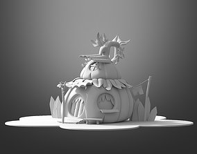 3D model Cartoon pumpkin house