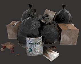 3D asset Trash Items