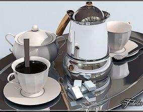 Coffee service tray 3D model