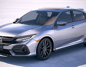 3D model Honda Civic Hatchback 2020