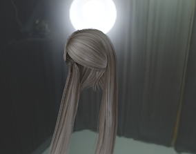 3D model WOMAN HAIR 3
