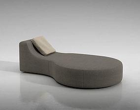 Modern Grey Cushion Couch 3D model