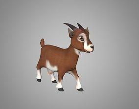 Goat or Goatling 3D asset animated