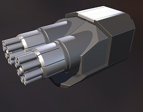 3D Gatling Gun Module High Poly Version