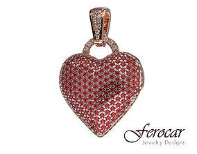 3D printable model Diamonds Bubble Heart Pendant Hip hop
