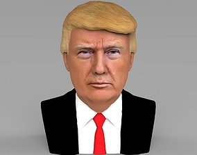 President Donald Trump bust ready for full color 3D 1