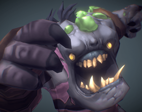 Ghoul Festering - Low Poly Hand Painted 3D model