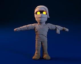 3D Cartoon Mummy Not Rigged