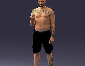 tatoo man 0817 3D print ready