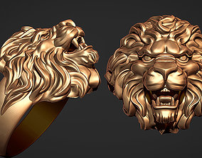 ring lion jewelry-ring 3D printable model