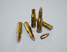 3D asset Cartridge Bullet PBR Game Ready