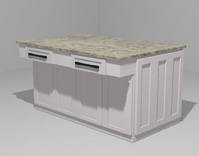 3D asset Simple Cabinet for Kitchen