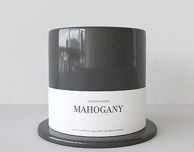 3D Aroma Candle Mahogany