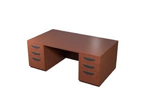 Office Desk 3D model realtime PBR
