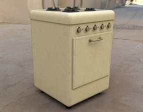 3D model Lowpoly Oven