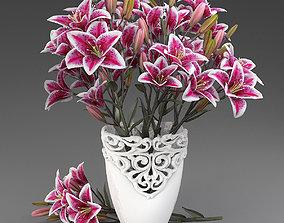 Bouquet of lilies-3 3D model