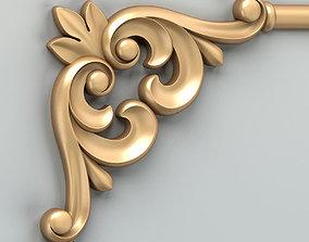 3D Carved decor corner 012