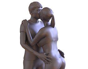 3D print model Couple Kissing